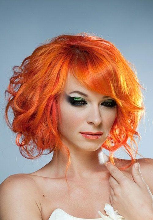 orange hair dye | 25 Short Hair Color Trends 2012 - 2013 | 2013 Short Haircut for Women