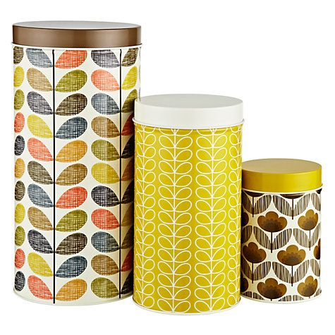 Buy Orla Kiely Multi Stem Kitchen Storage Tins, Set of 3 Online at johnlewis.com