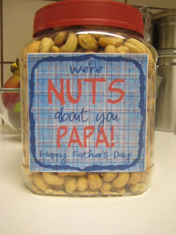 """We're NUTS about you, Papa!"" - Father's Day Gift Idea --- For Poppi with his favorite nuts from Central Market!"