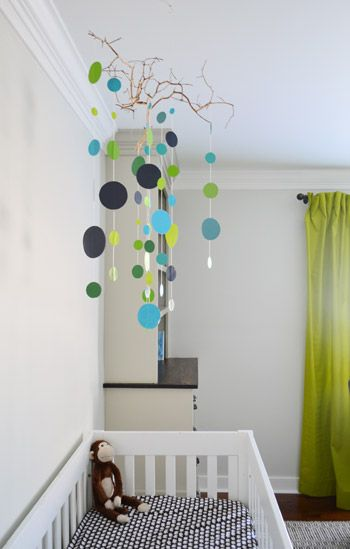 An Easy Handmade Nursery Mobile Kid Es Pinterest Baby And Boy Rooms