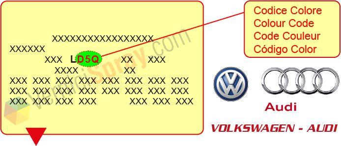 Encuentra el código de color Volswagen - Audi