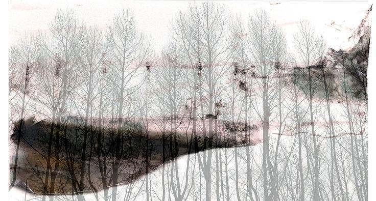 layered photos