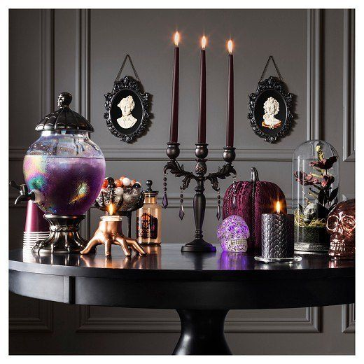 DIY Halloween decorations modern table setting inspiration