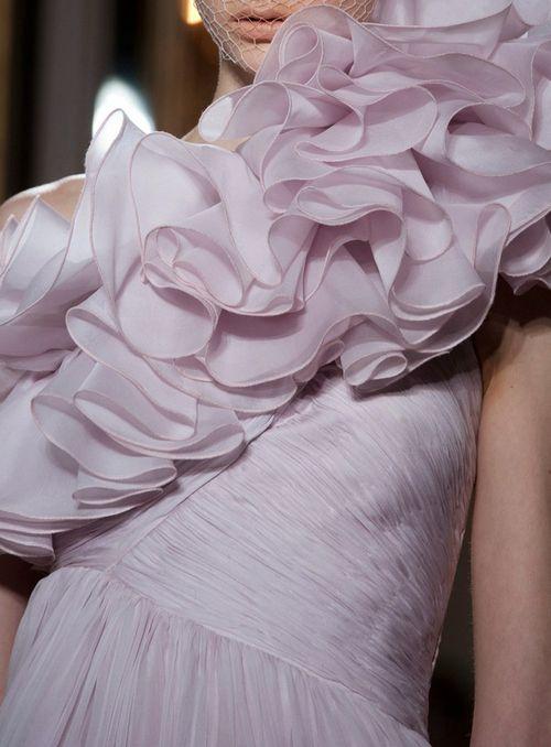 Giambattista Valli haute couture f/w 2012: Lilacs Gowns, Ruffle, 2012 Couture, Giambattista Valli, Dresses, Interval Haute, Couture F W, Glamorous Chic Life, Haute Couture