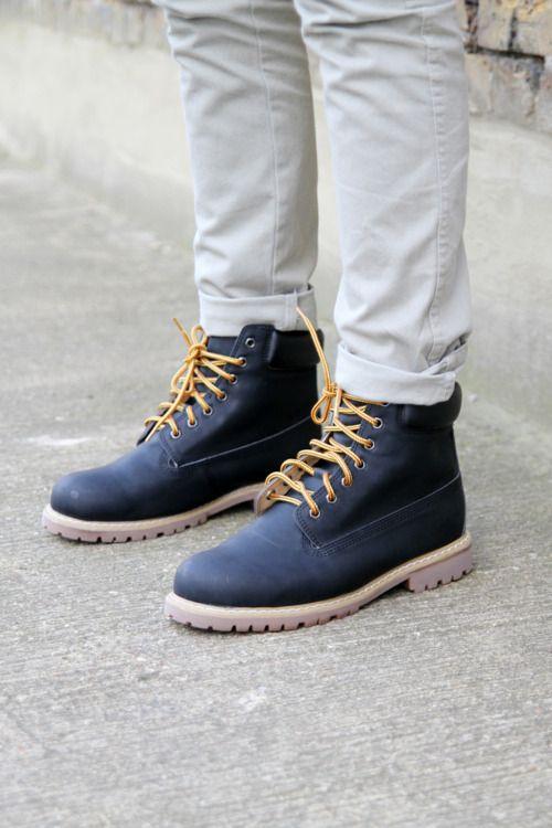 Timberland Black Boots...!!