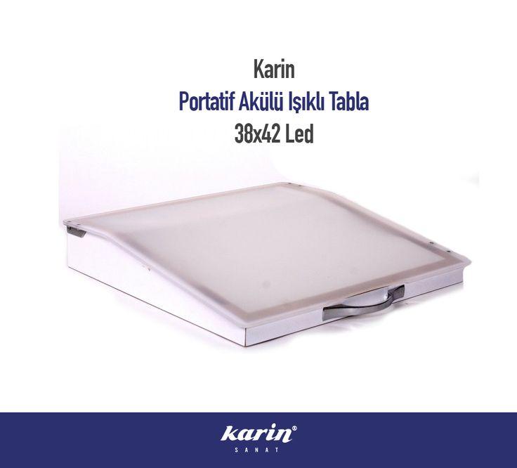Karin Portatif Akülü Işıklı Tabla http://bit.ly/2ftFV5G  #KarinSanatMalzemeleri #Karin #PortatifAkülüIşıklıTabla