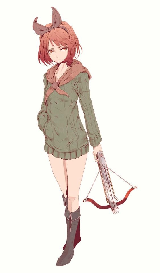 Anime Characters Using Bow : Crossbow anime girl character inspiration female