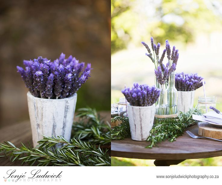 Lavendar wedding decor.  Fresh lavender was used for our flower arrangements.