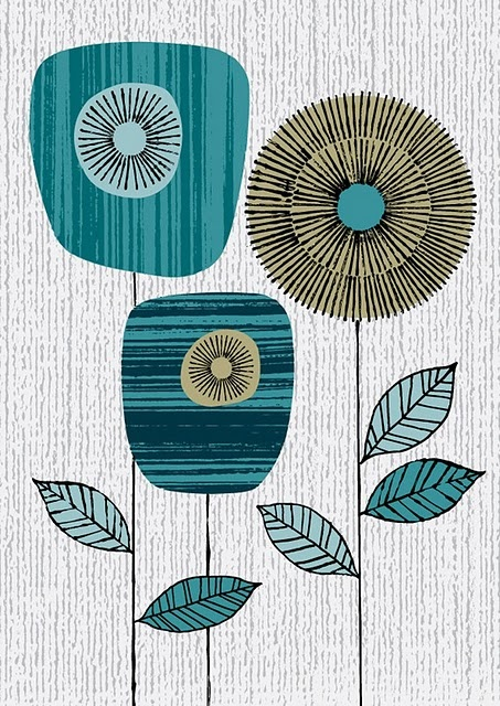 A little retro, a lotta cool. could use scrapbook paper and old book pages for fun textures!