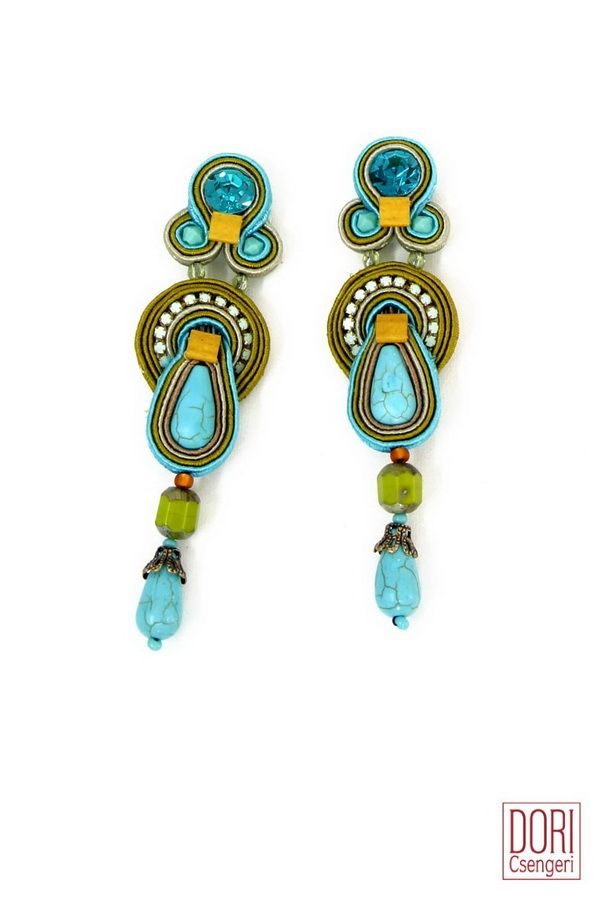 Alegra trendy turquoise earrings are now 50% off! #doricsengeri #specialoffer #turquoiseearrings #resortwear