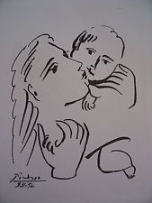Picasso lithograph. Lithography of Picasso