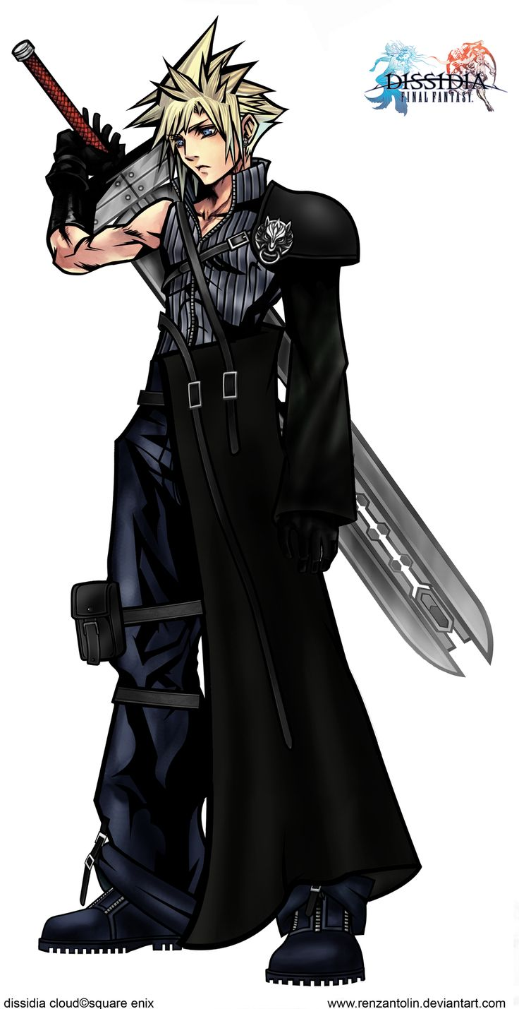Cloud Strife's hair reminds me of Roxas or Sora from kingdom hearts II<---that's the point baka