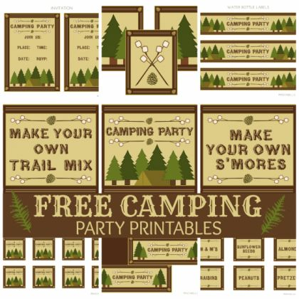 Free Printables: Camping Printable Set