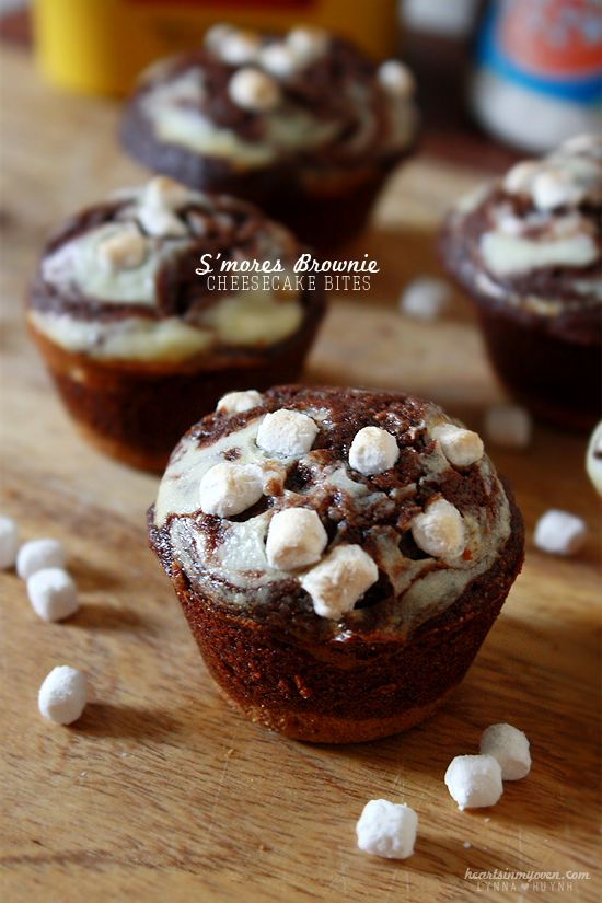 Hearts in My Oven: S'mores Brownie Cheesecake Bites @Lynna H