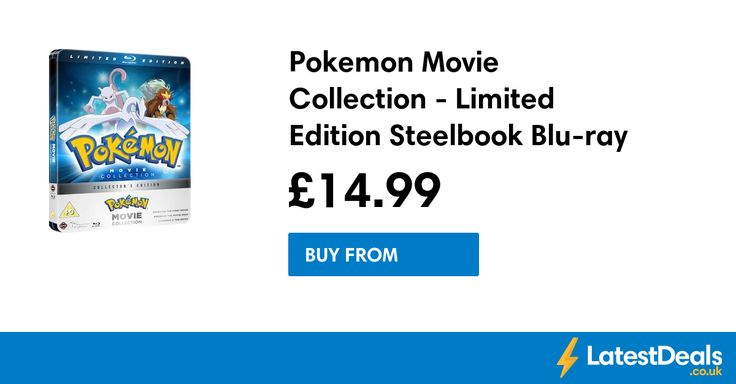 Pokemon Movie Collection - Limited Edition Steelbook Blu-ray Save £15, £14.99 at Zavvi