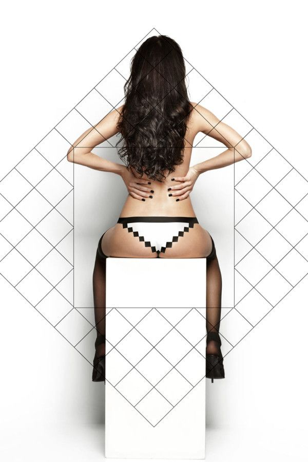 Pixel Panties: Made with Squares, Fit for Round Bottoms in technology style fashion main  Category