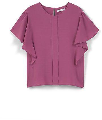 Womens amethyst ruffled sleeve blouse from Mango - £29.99 at ClothingByColour.com
