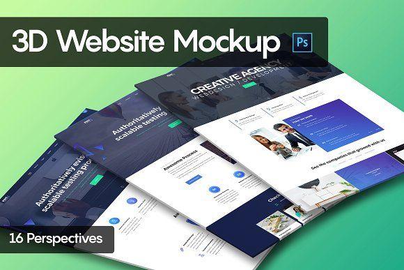 3d Website Mockup Website Mockup Mockup Photoshop Plugins
