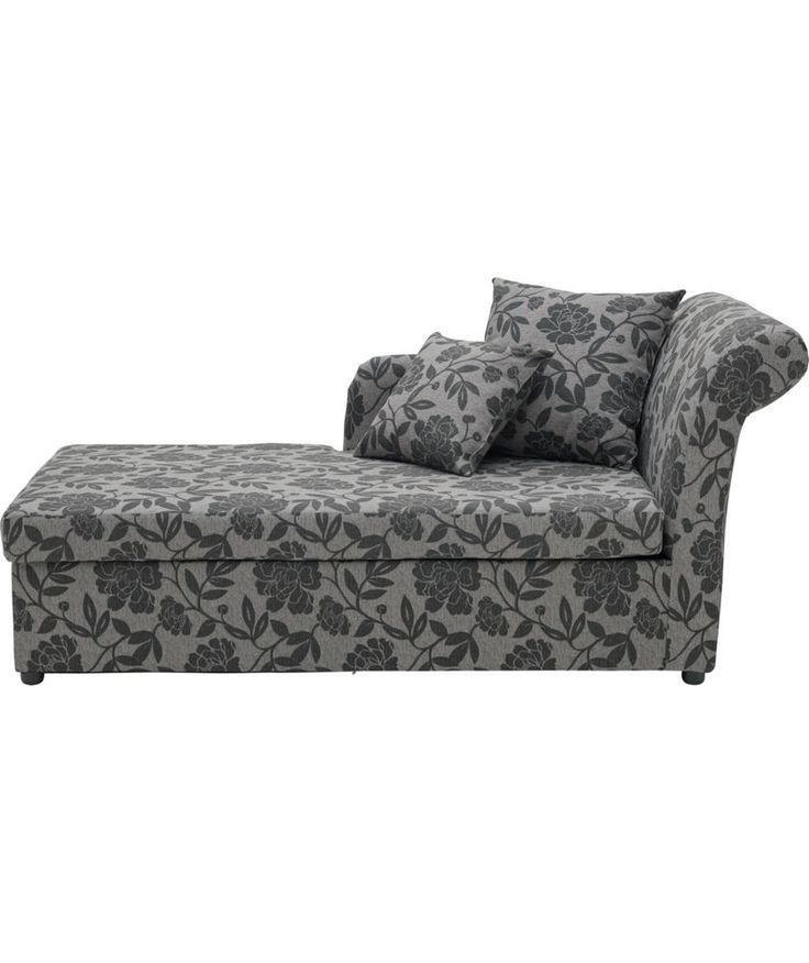 Buy Floral Fabric Chaise Longue Sofa Bed - Charcoal at Argos.co.uk -  sc 1 st  Pinterest : chaise longue sofa beds - Sectionals, Sofas & Couches