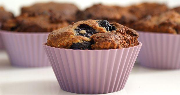 Recept: eiwit muffins met appel en blauwe bessen
