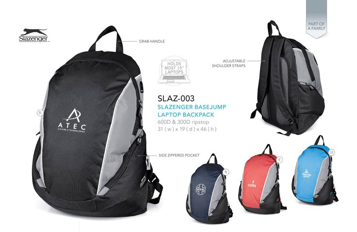 We are a supplier of the Slazenger Laptop Backpack in Sandton. Order your branded products today.#BackPacks