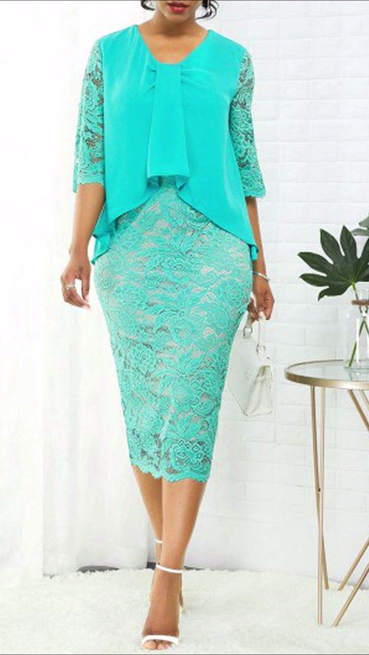 Women Fashion Green Dress