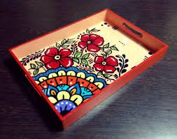 Resultado de imagen para bandejas pintadas a mano