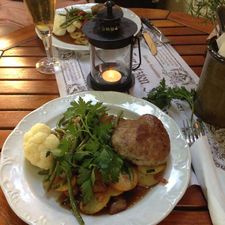 Authentic German feast in Berlin Germany at the Zur Letzten Instanz.