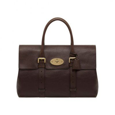 2013 Mulberry Oversized Bayswater Chocolate Natural Leather