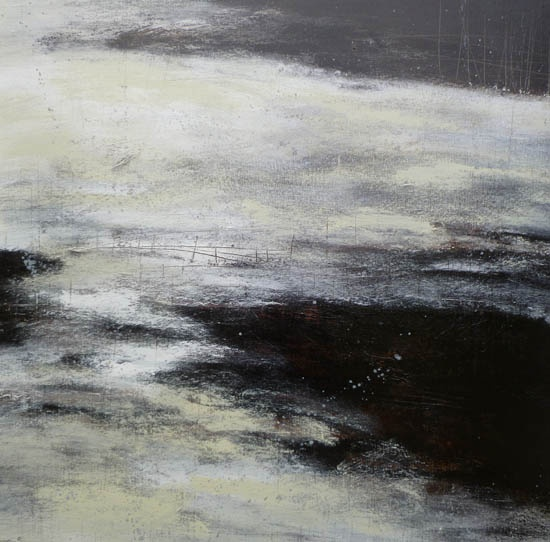 Blackwater Acrylic on Canvas/ 102x102cm/ Ross Loveday