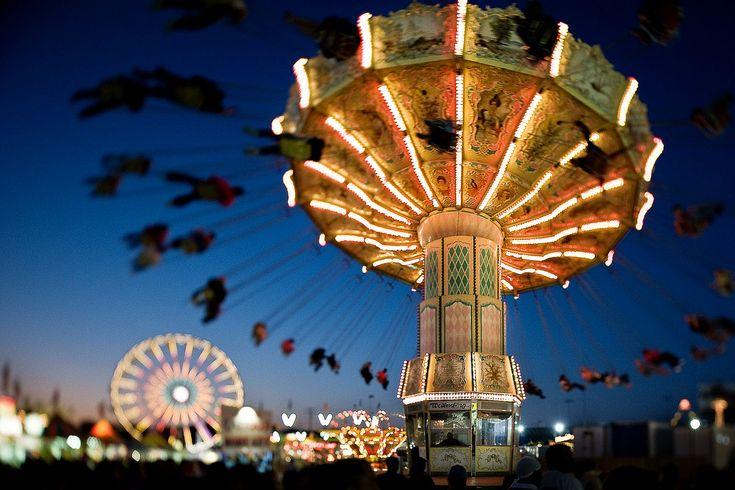 Amusement park tilt Shift Photography