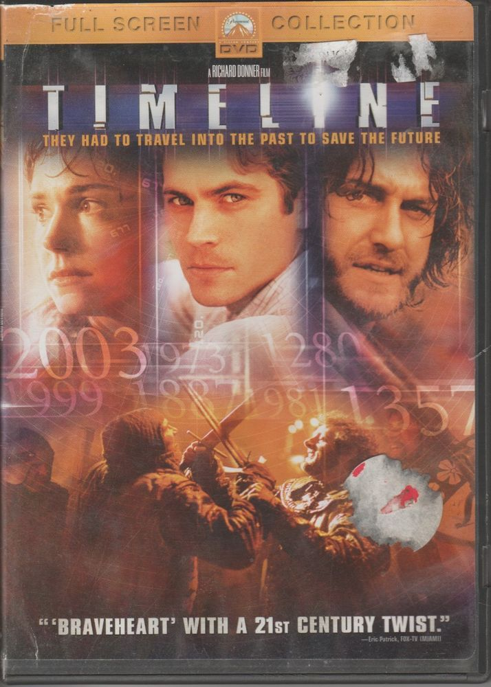 Timeline (DVD, 2004, Full Frame) Gerard Butler, Billy Connolly, Paul Walker Used #paramount