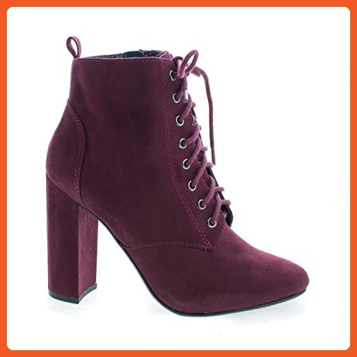 Women's eminent Almond Toe Lace Up High Heel Ankle Boots
