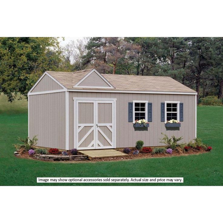 Handy Home Products Columbia 12 ft. x 24 ft. Wood Storage Building Kit with Floor-18223-5 at The Home Depot
