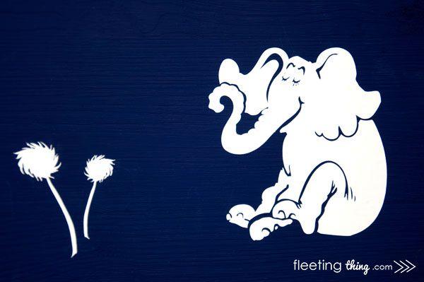 fleetingthing  u00bb dr seuss wall art  silhouette downloadable