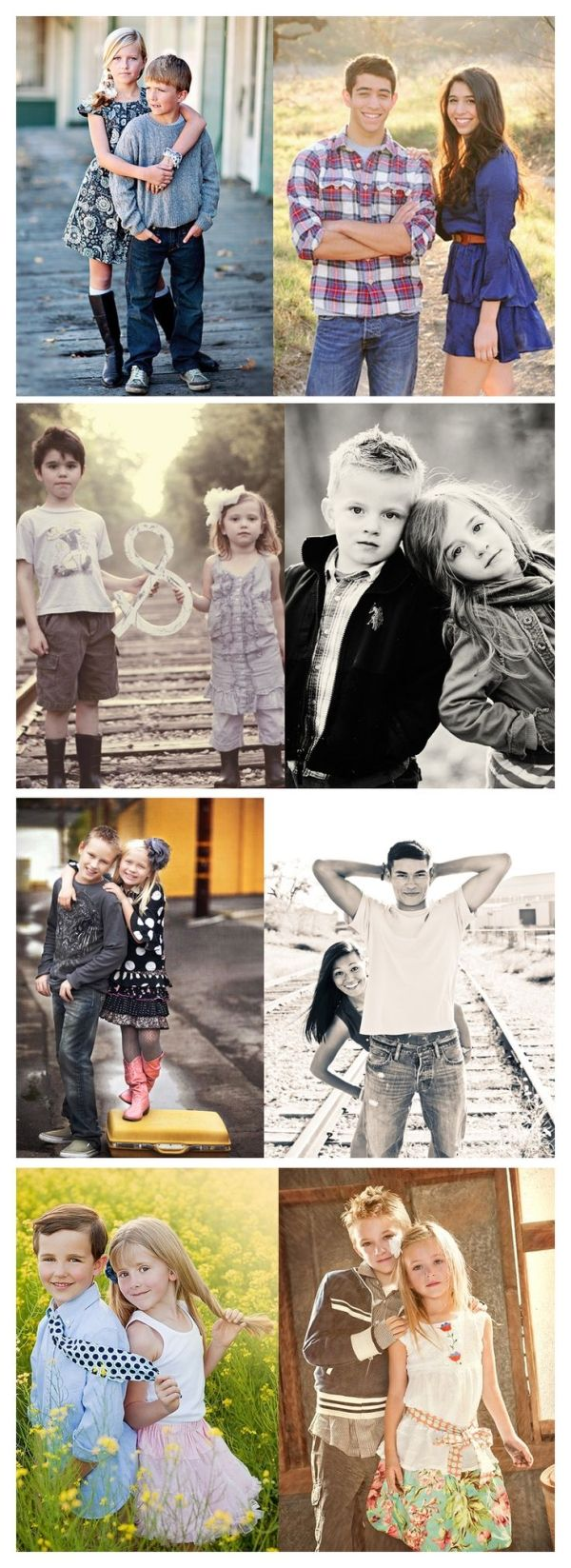 Brother & Sister. Sibling poses. Photos by felicia