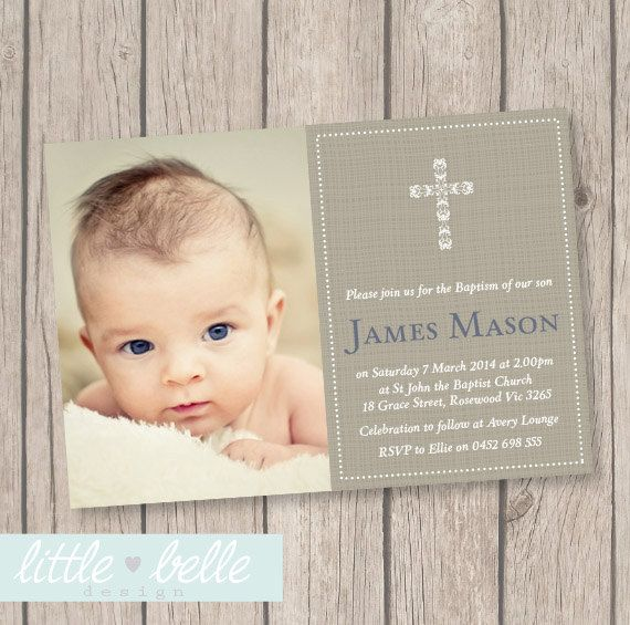 A simple and beautiful way to announce your childs special occasion. This invitation can be customized for a Baptism, Christening, Dedication,