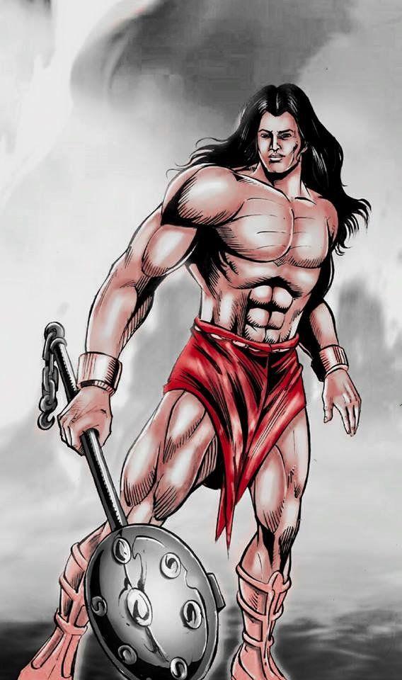 Style 2, Yoddha (Raj Comics) - Illustrator: Anuj Kumar, Inker: Vinod Kumar, Colorist - Nishant Maurya