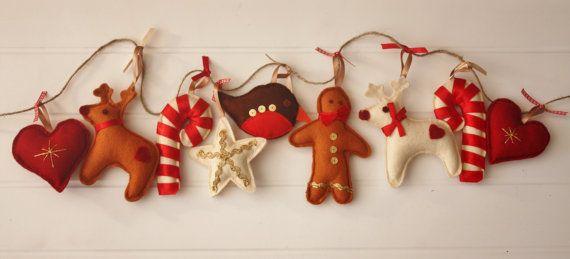 Traditional Christmas Decoration  Christmas di ButtonOwlBoutique