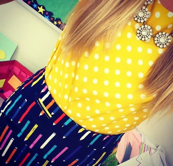Pencil skirt and polka dots  Little Lovely Leaders: My Favorite Outfits!