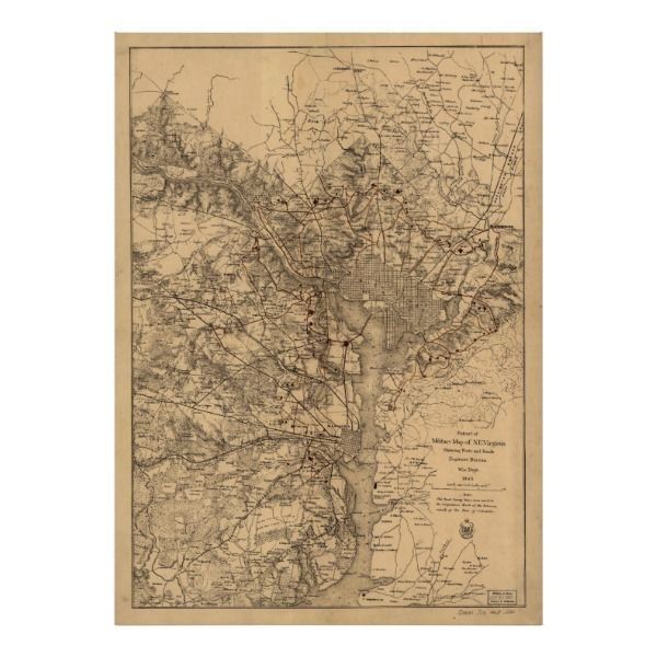 Vintage Map of The Washington DC Area (1865) Poster -  This is a vintage map of the Washington D.C. area produced in 1865.       ... #custom #Halloween Themed  #gift #print design by #Alleycatshirts - #print #washingtondc #washingtondc #washingtondcmap #mapofwashingtondc #oldmapofwashingtondc #oldwashintondcmap #vintagewashingtondcmap #vintagemapofwashingtondc #historicalmapofwashingtondc #historicalwashingtondcmap #washingtondccartograph #washingtondccartography #washingtondchistorian…