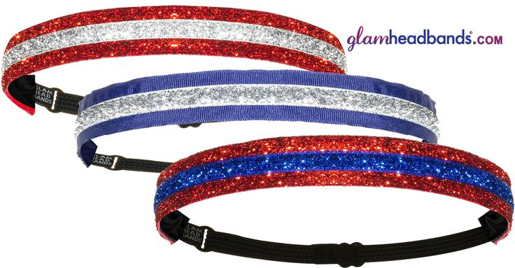 Get ready for Memorial Day with these Red, White, and Blue headbands!