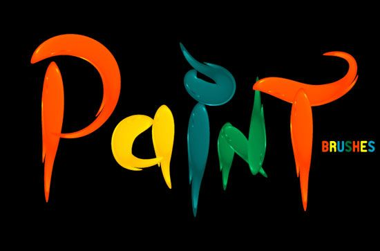 Pinceles 3D. Vector Art: 3D Paint Brushes for Vector Drawing with Adobe Illustrator