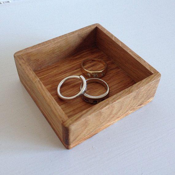 Ring Tray Wedding Ring Box Jewellery Tray Oak Tray Small Wooden Tray Wooden Storage Scottish Gift Coin Tray Presentation Tray Jewelry Tray Wooden Storage Ring Tray