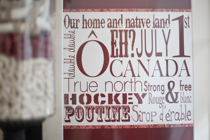 FREE Canada subway art. Canada Day decor!