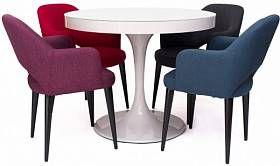 Стол Тюльпан 100+30 см + стулья Martin