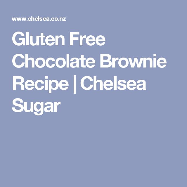 Gluten Free Chocolate Brownie Recipe | Chelsea Sugar