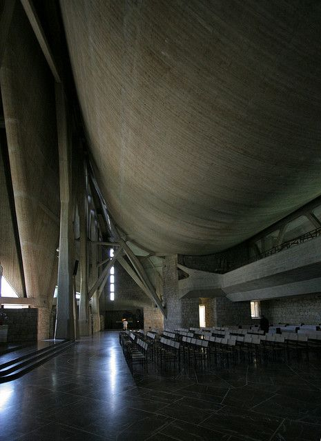 Florence Italy, San Giovanni, Chiesa dell'Autostrada designed by Giovanni Michelucci | Flickr - Photo Sharing!