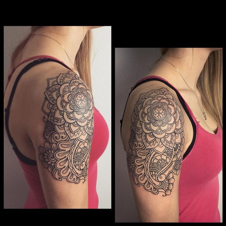 Laura Jade - Henna inspired line work tattoo                                                                                                                                                                                 More
