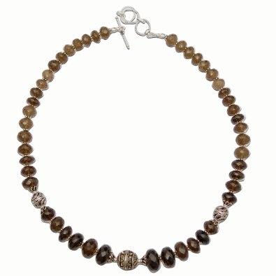 India Jewelry Smoky Quartz Gemstone Necklace Chains for Women 18 Inches: Jewelry: Amazon.com